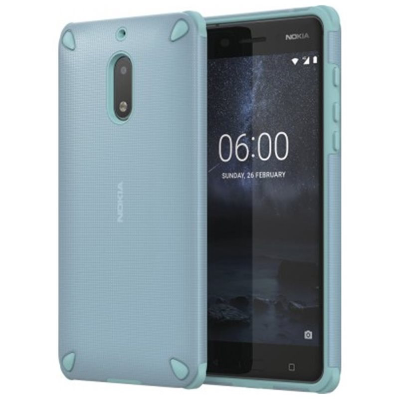 nokia mint t rkis nokia 6 rugged cover 1a21mky00va accessoires boutique en suisse. Black Bedroom Furniture Sets. Home Design Ideas